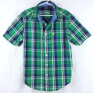 Wrangler Plaid Short Sleeve Button Down Shirt